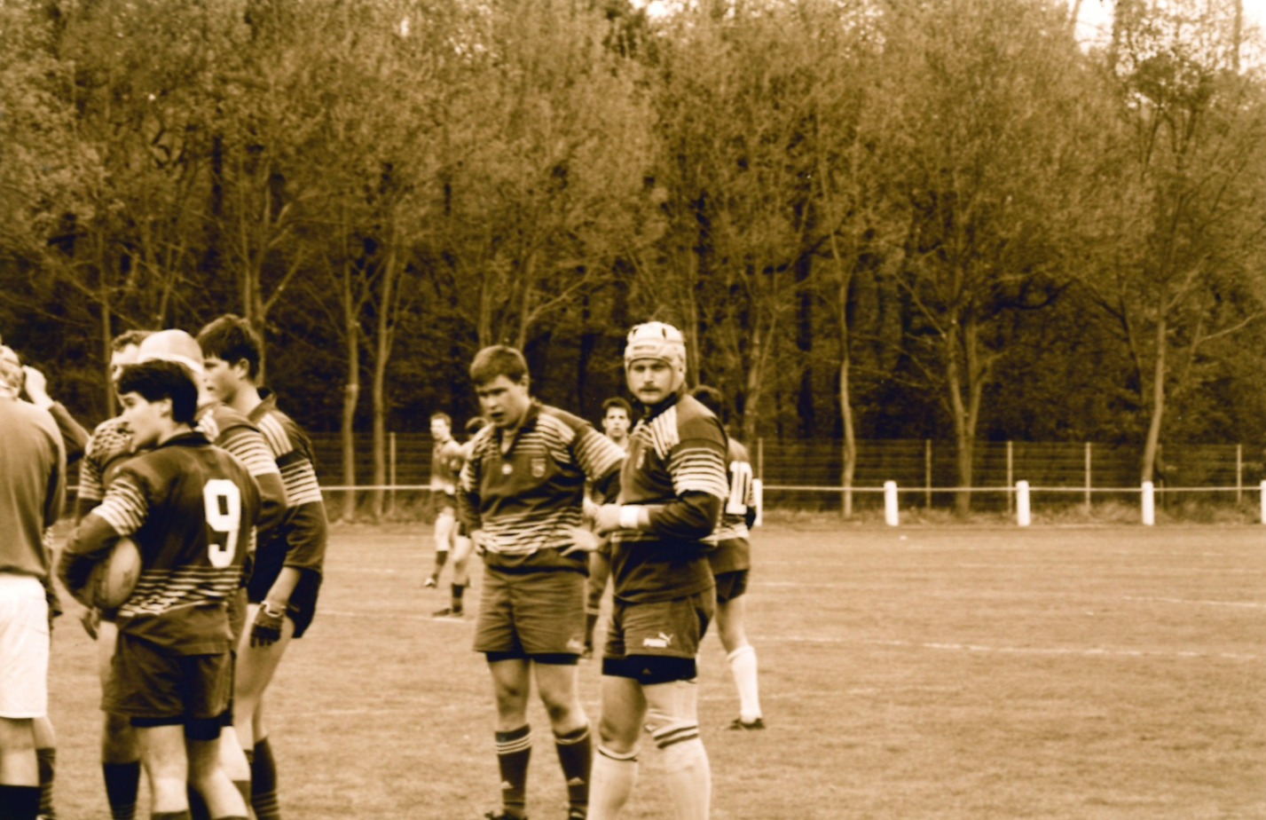 Julien and Christophe playing rugby at TGS Hausen