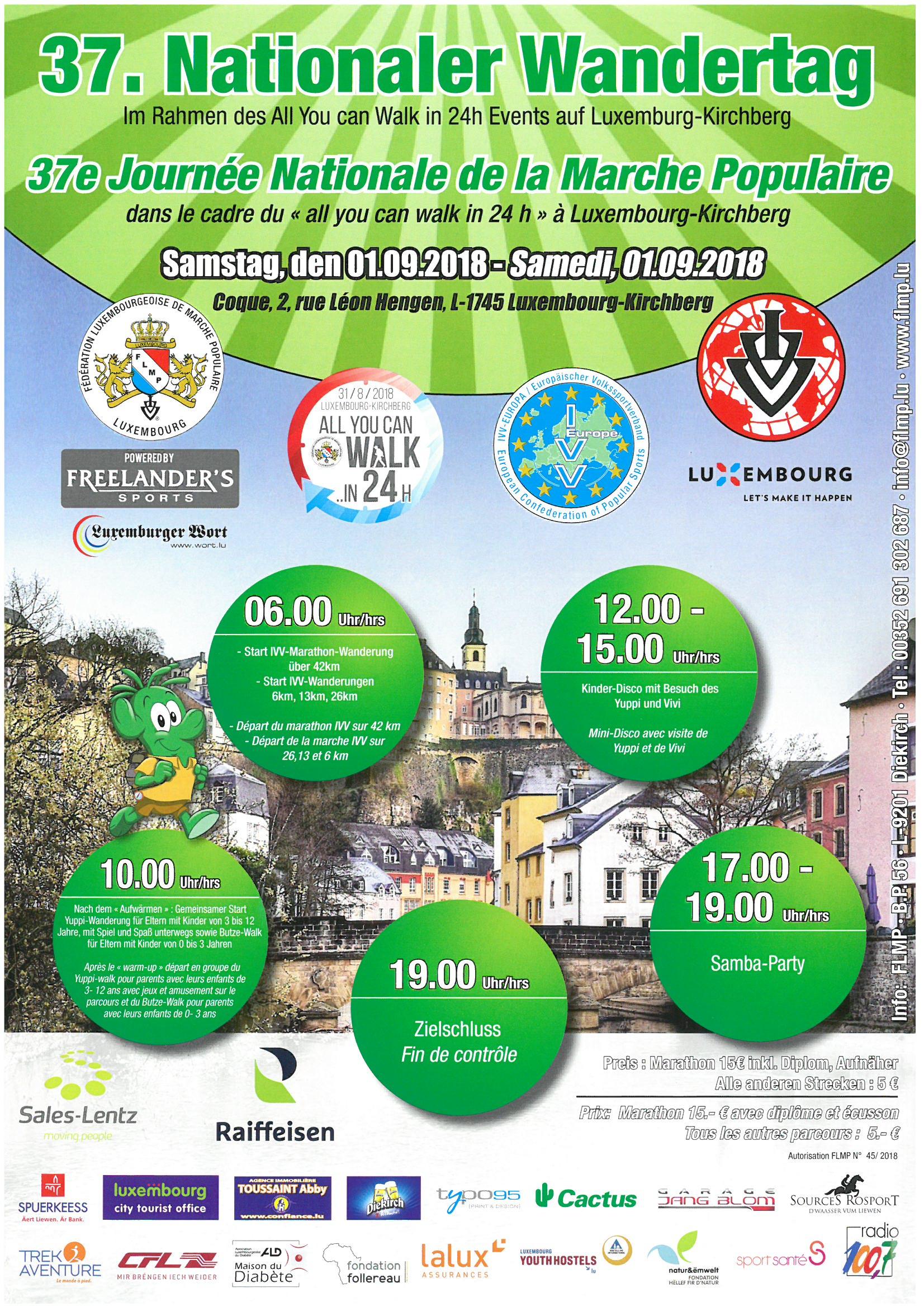 Luxembourg-Kirchberg FLMP IVV Wanderung