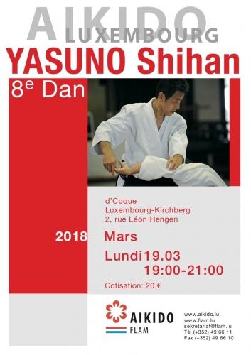 stage avec YASUNO Sensei, 8e DAN