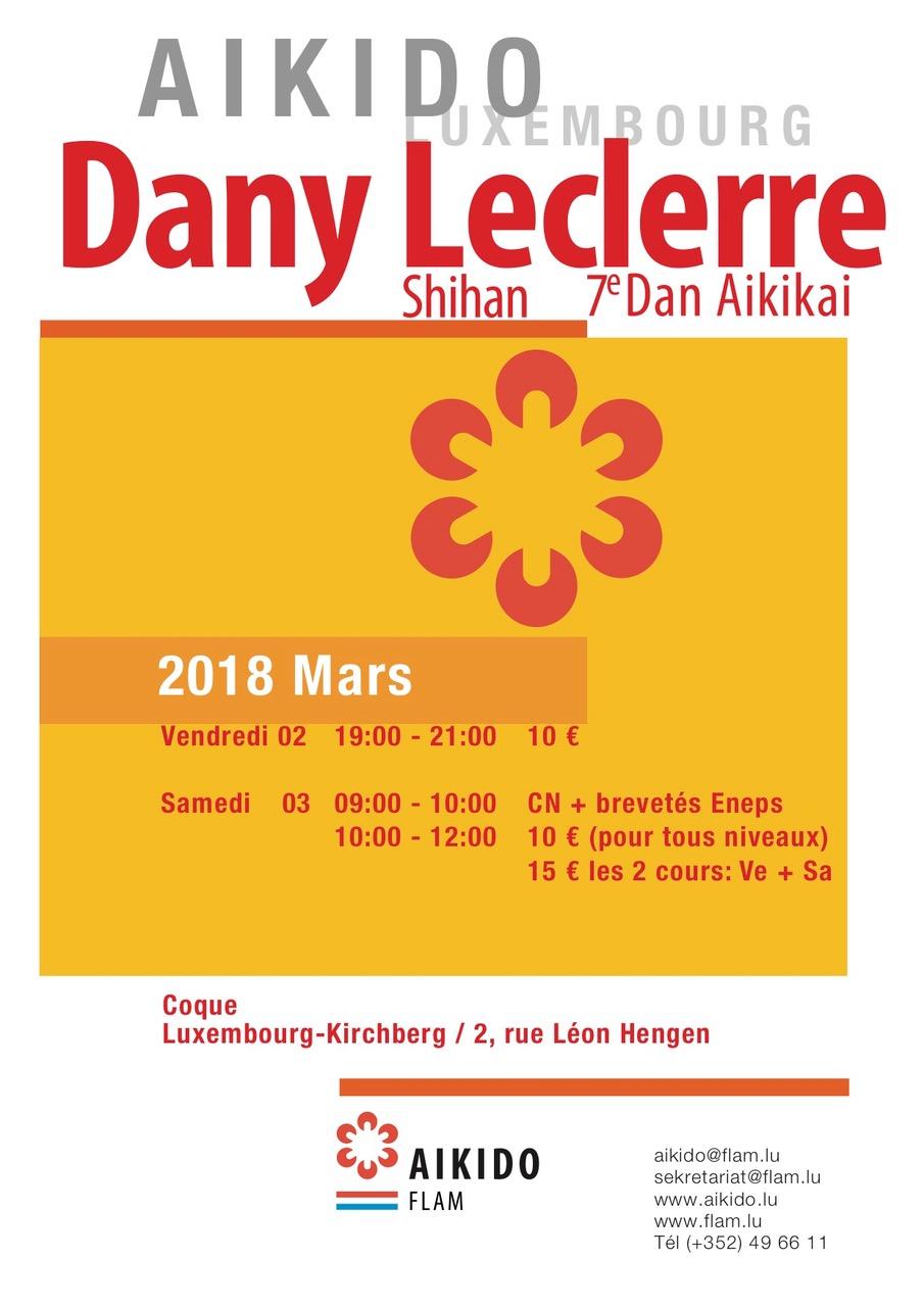 stage avec Dany Leclerre, 7e DAN