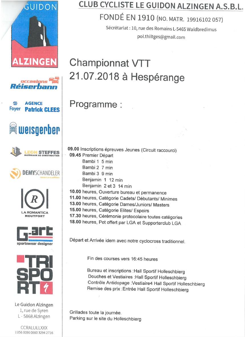 CHAMPIONNATS NATIONAUX MTB XCO