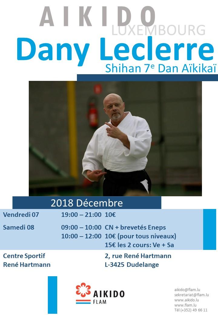 stage fédéral avec Dany Leclerre, 7e DAN