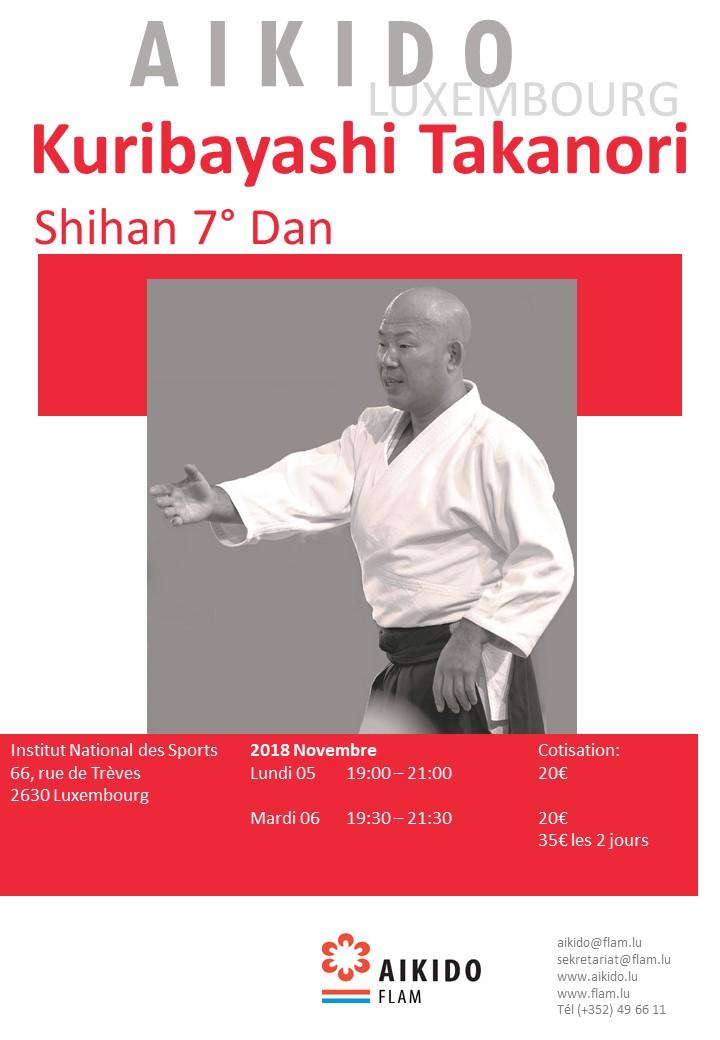 stage fédéral avec T. Kuribayashi Sensei, 7e DAN