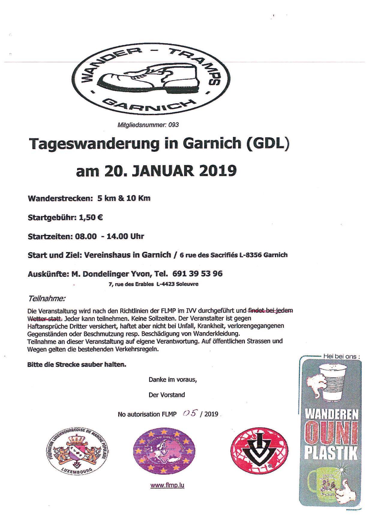GARNICH FLMP IVV WANDERUNG