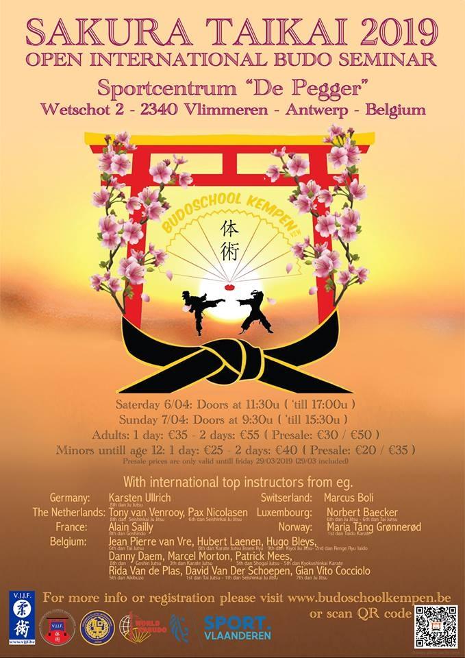 EJJU Stage 'Sakura Taikai' à Beerse (Anvers /Antwerpen)