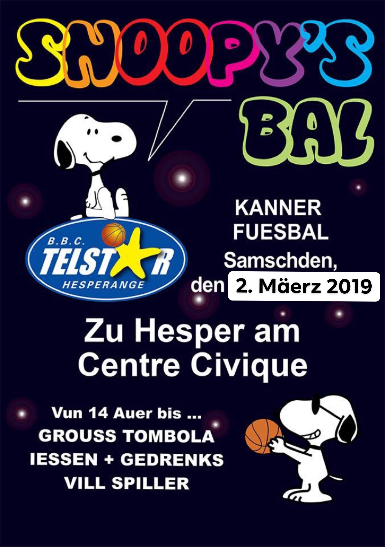 Snoopy's Bal 2019