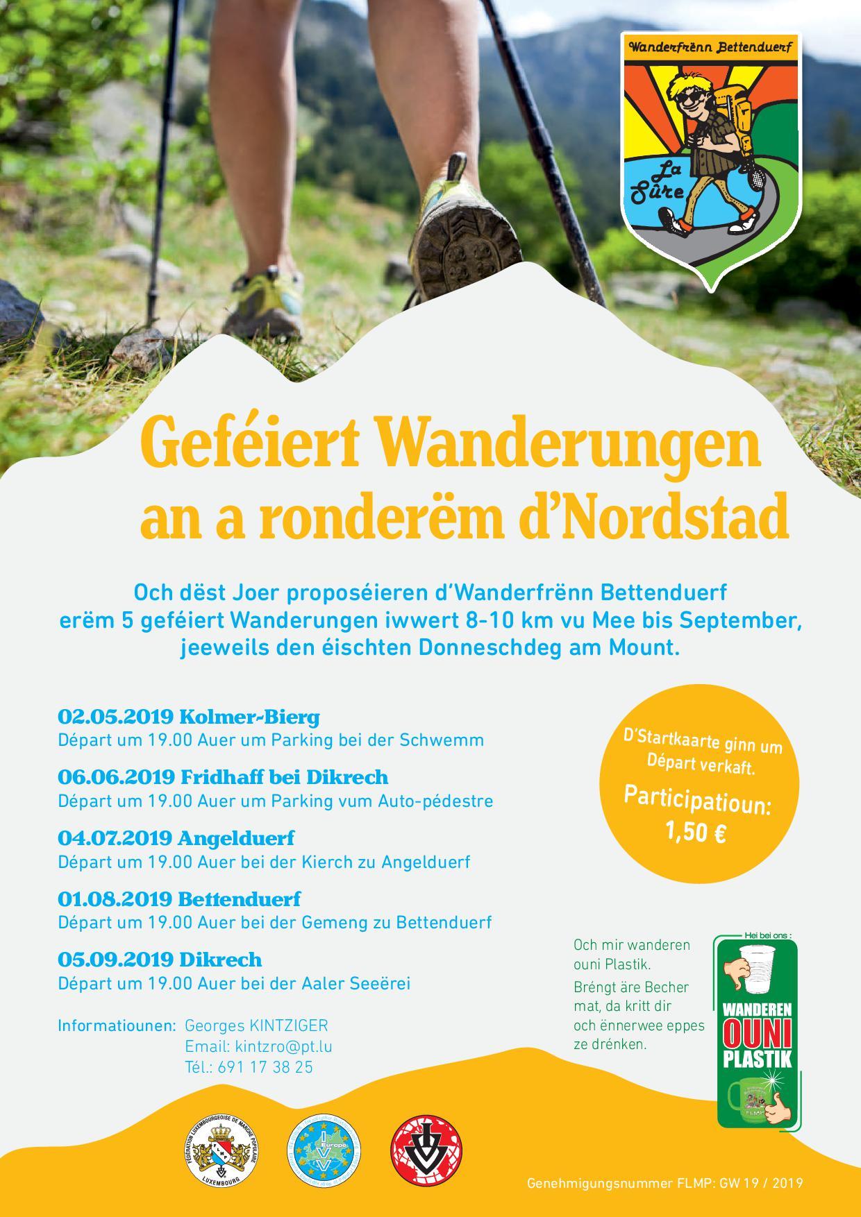 Colmar-Berg Flmp Ivv geféiert Wanderung