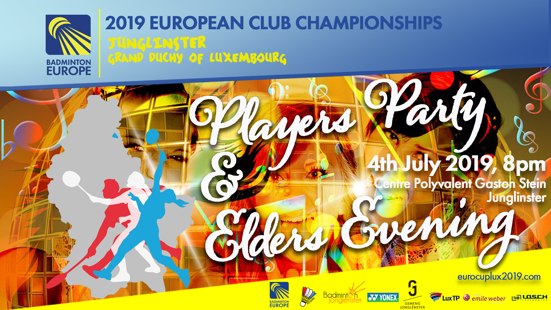European Club Championships : Players Party and Elders Evening