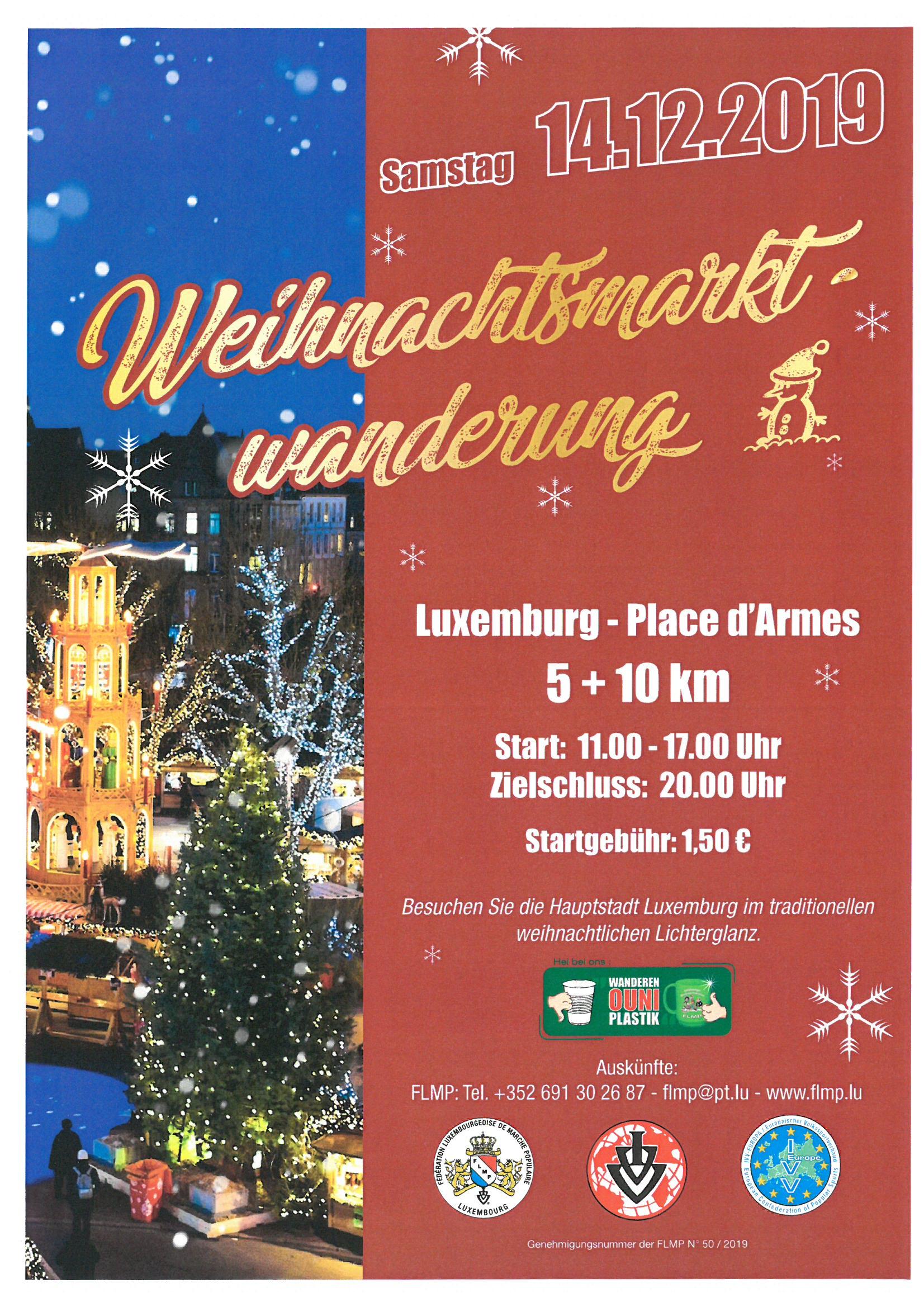Luxemburg Flmp Ivv Weihnachtsmarktwanderung