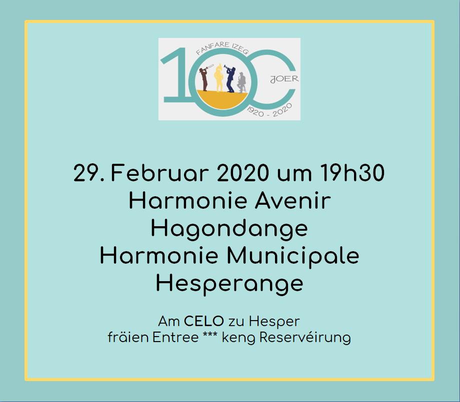 100 Joer Izeger Musek: Concert am CELO