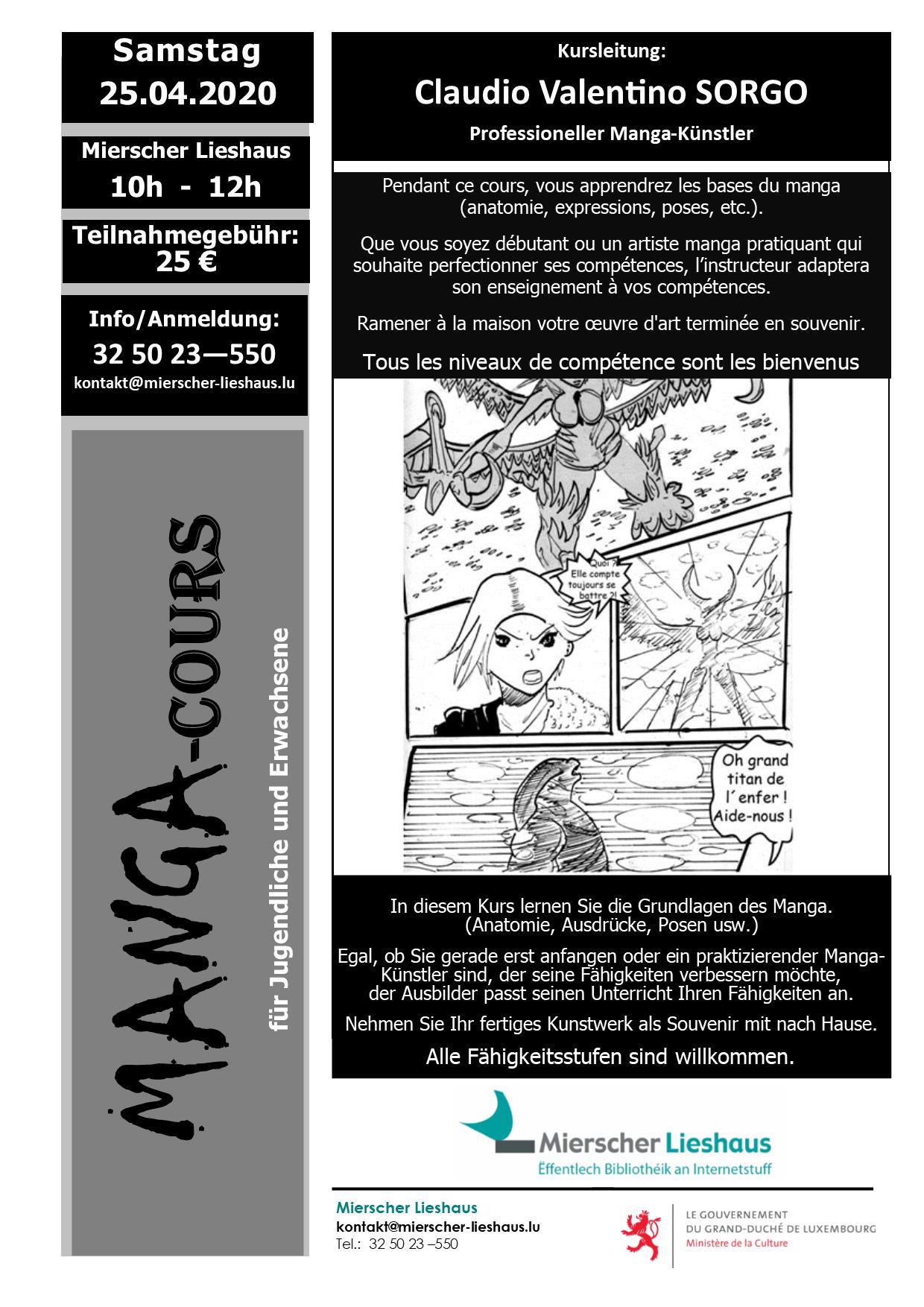 MANGA-COURS mit Claudio Valentino SORGO