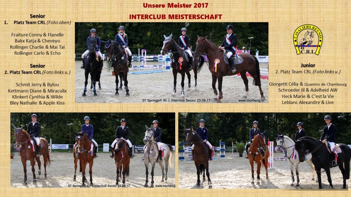 Unsere Meister 2017