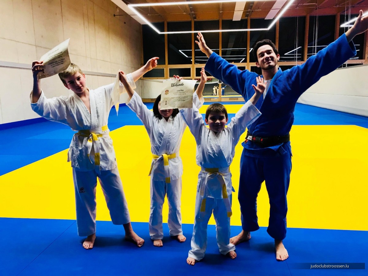 14.03.2018: Gürtelprüfung / Belt exam / Passage de grades Judo Club Stroossen