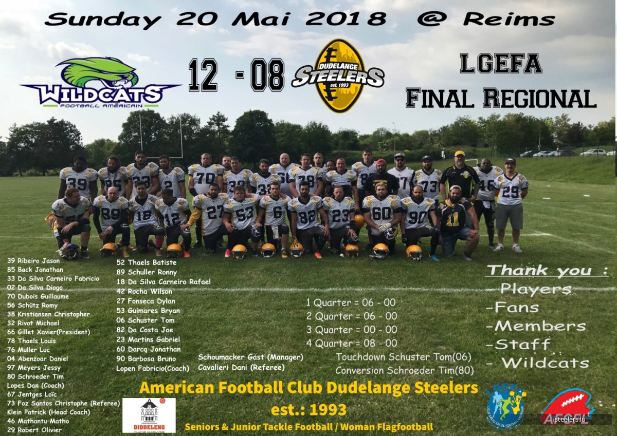Final LGEFA Wildcats v/s Steelers
