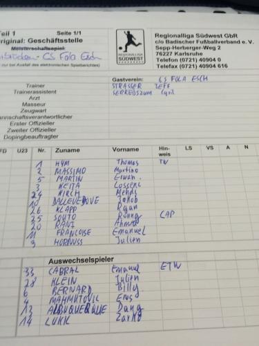 1. FC Saarbrücken vs. CS Fola Esch