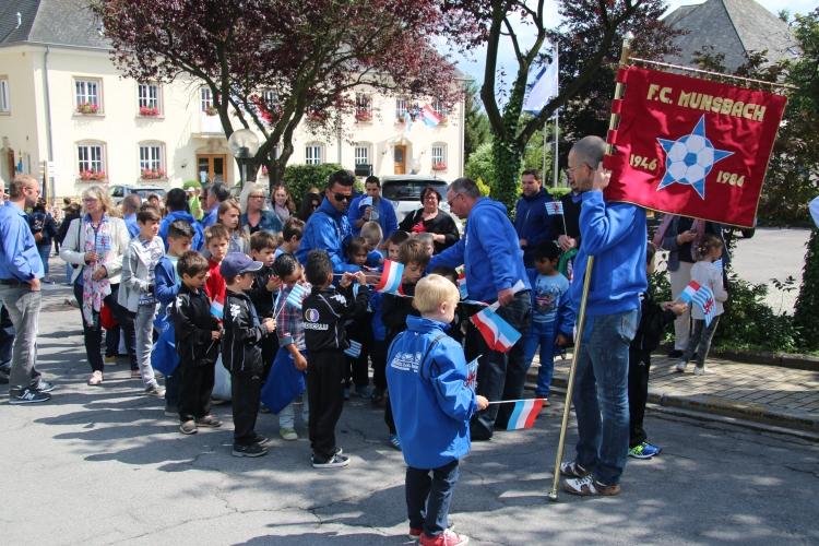 Den F.C.Munsbach vertrueden um Nationalfeierdaag zu Schetter