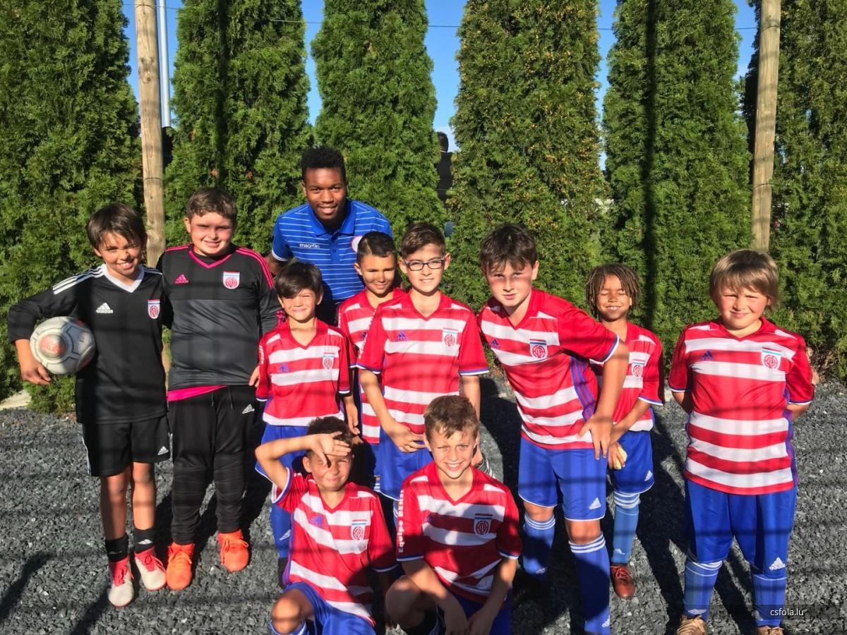 Jugencup U11 zu Kaerjeng, eis Equipe mam G. Mersch U21