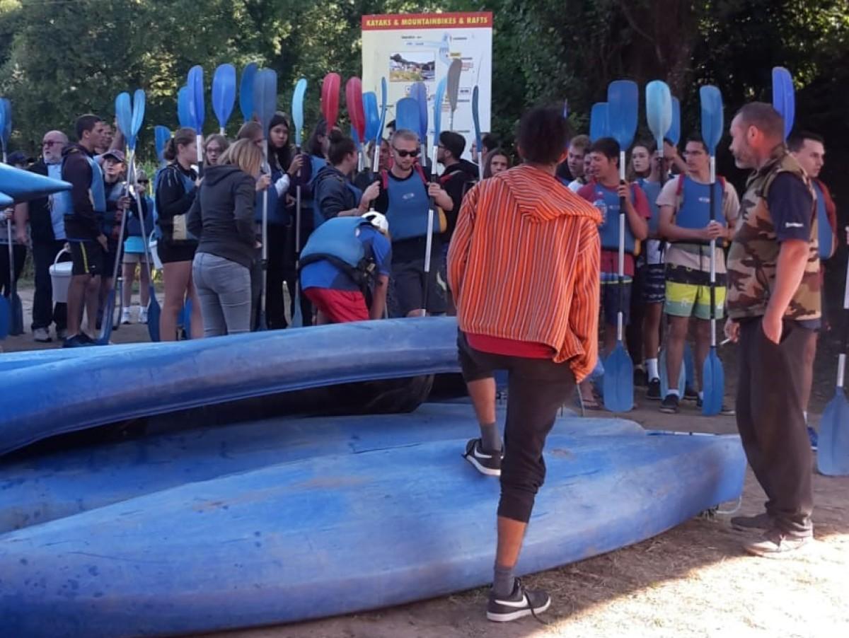 2018 Echange Pessac : Canoe et VTT