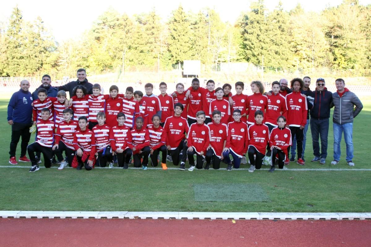 Les jeunes du CS FOLA à l'honneur lors du match CS FOLA - Etzella le 21/10/2018 6-0