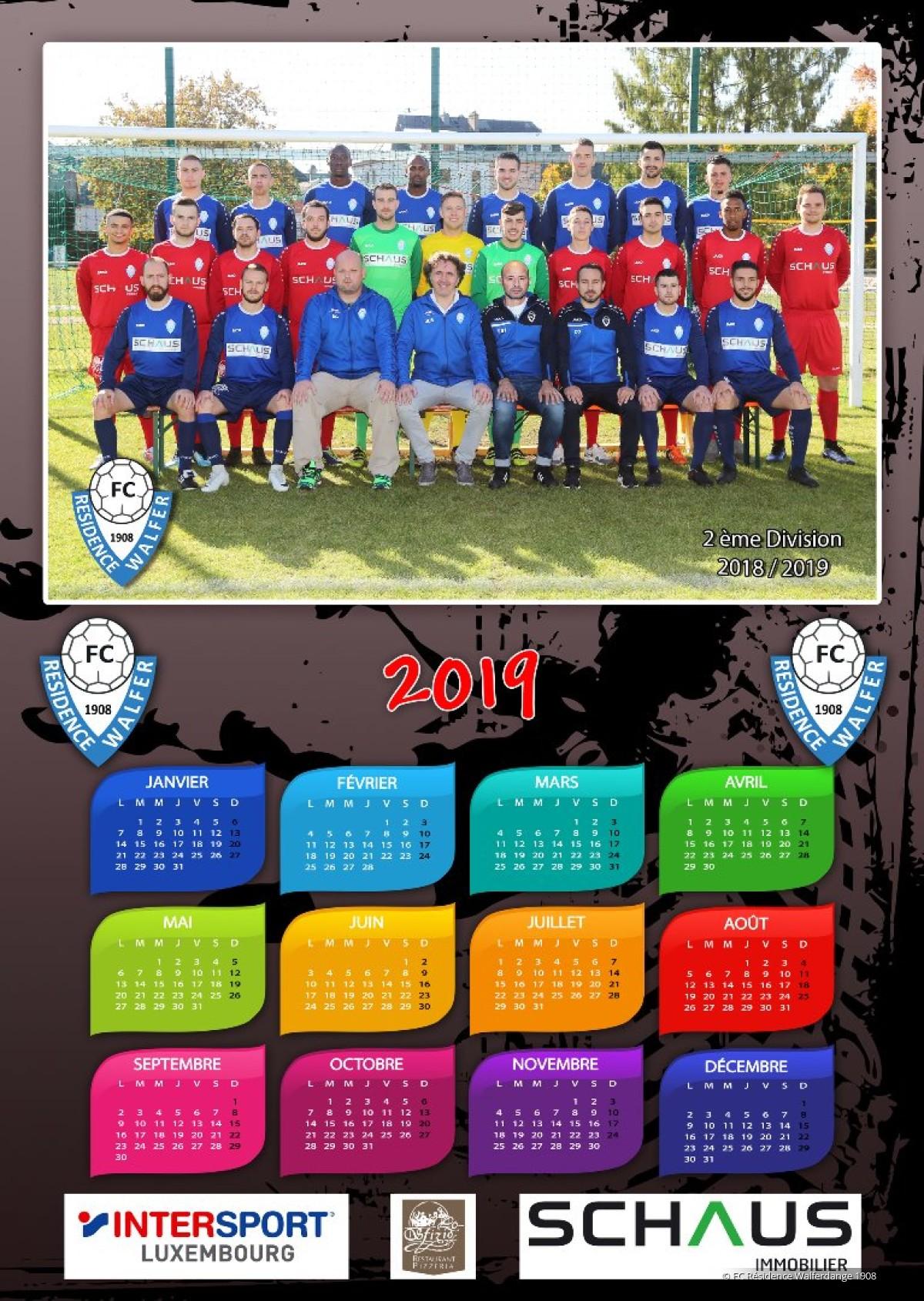 1/01/2019 Calendriers équipes (Photos J. Bourgeois)