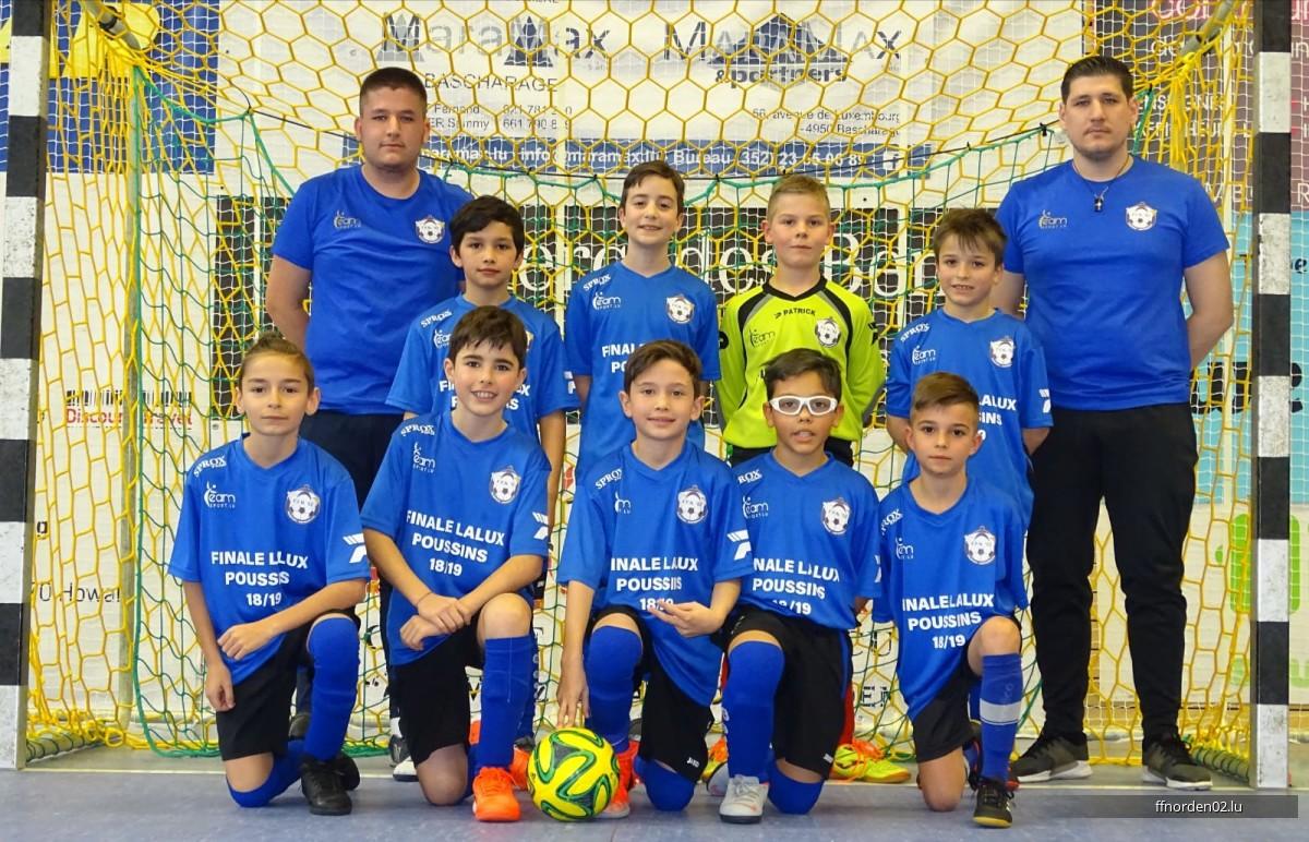Poussin an der Final vam Lalux Futsal Cup