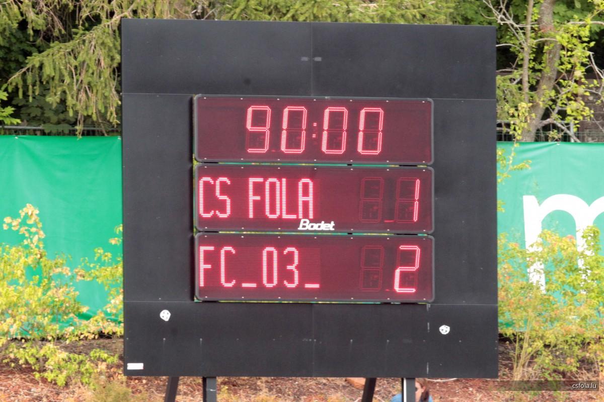 CS FOLA - Differdange 03 1-2 04/08/2019