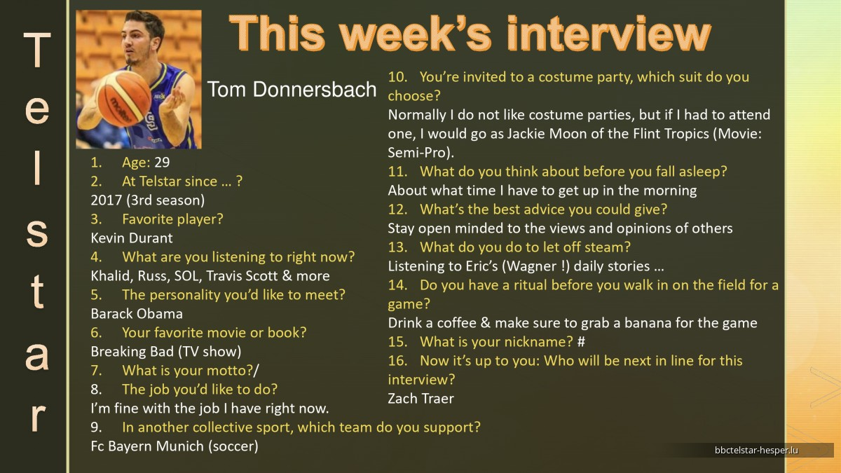 Interviews of the Week 2019-2020