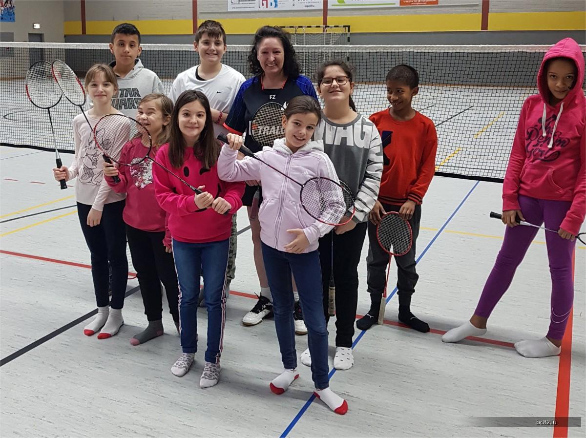 Initiatioun Badminton mat der Maison Relais