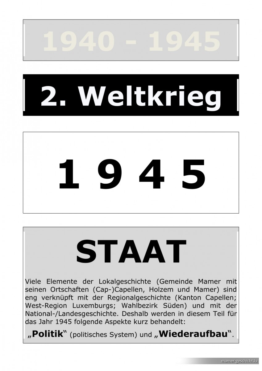 WWII - 1945 - 3 STAAT