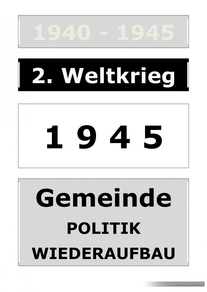 WWII - 1945 - 5 Gemeinde