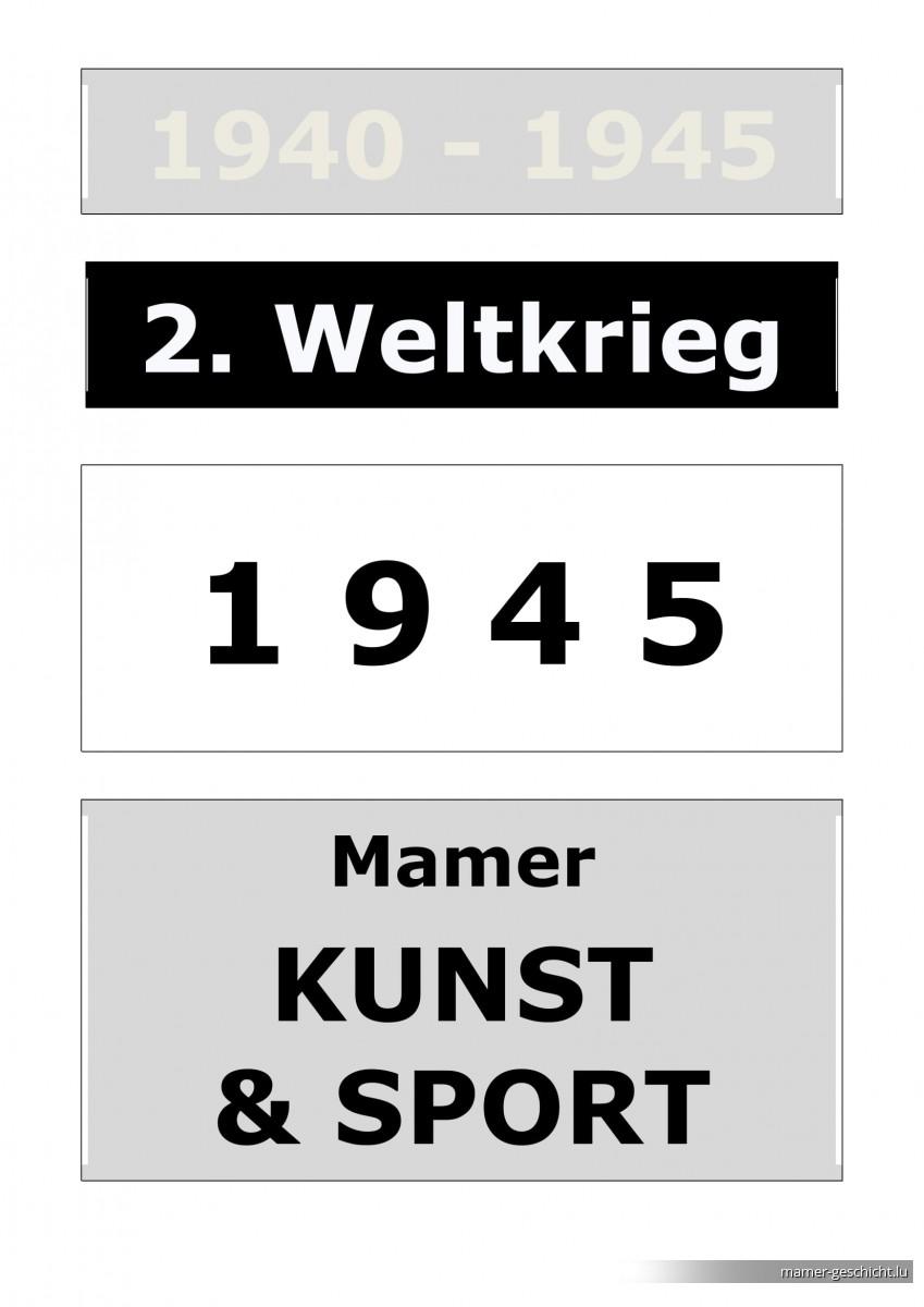 WWII - 1945 - 7 Kunst & Sport