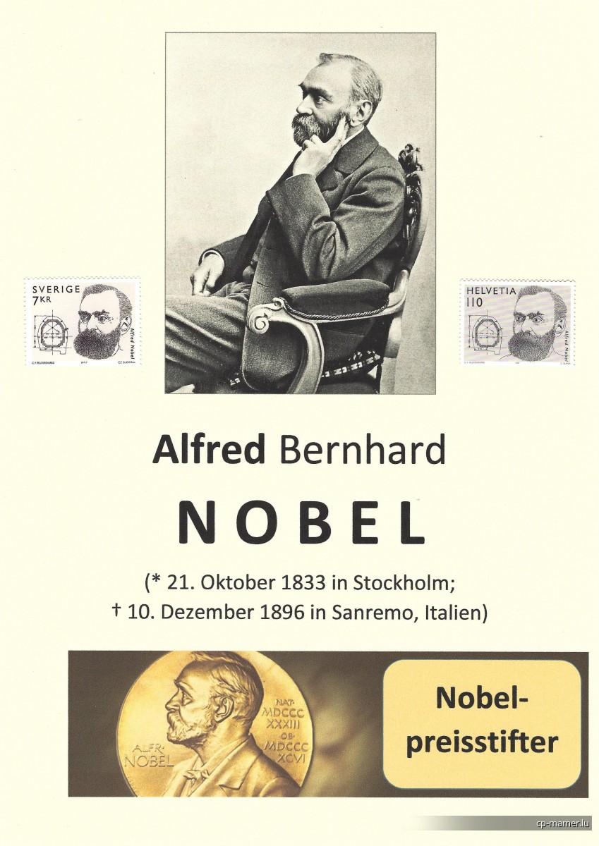 Nobelpreis - NOBEL Alfred (1833-1896)