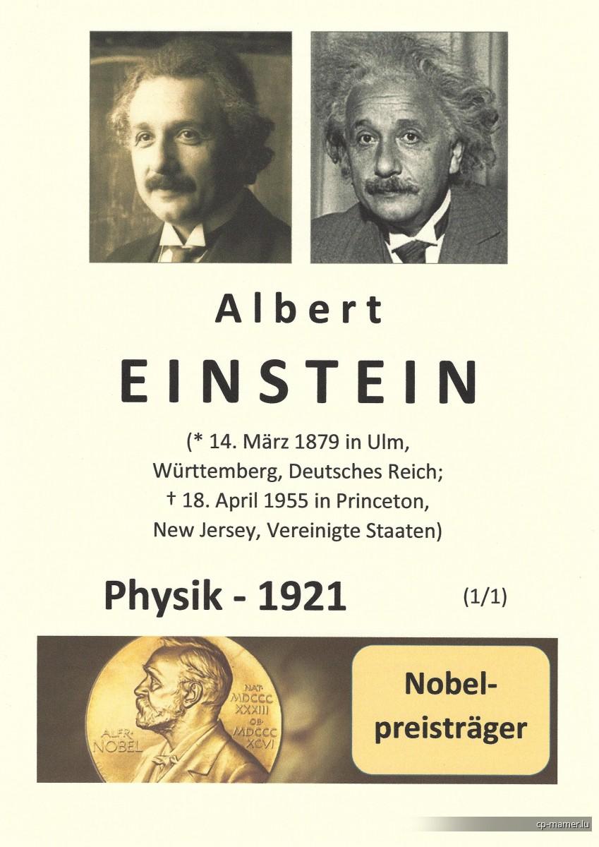 Nobelpreis - EINSTEIN Albert (1879-1955)
