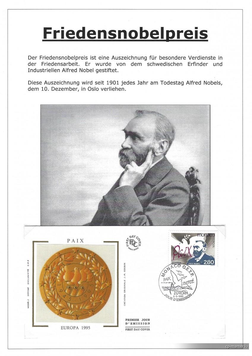 Nobelpreis - Nobelpreisträger für Frieden