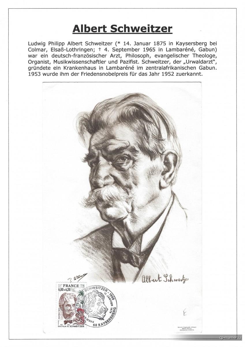Nobelpreis - SCHWEITZER Albert (1875-1965)