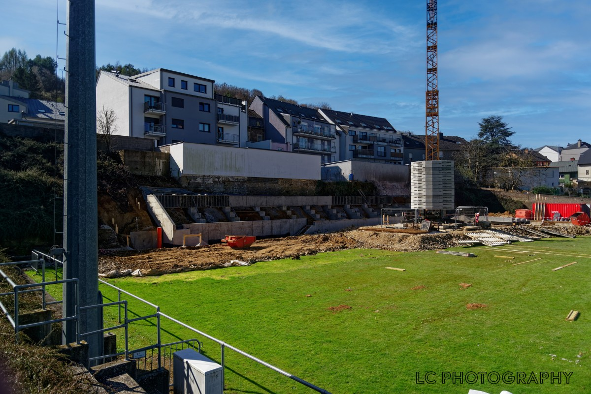Travaux gradin stade Jos Philippart