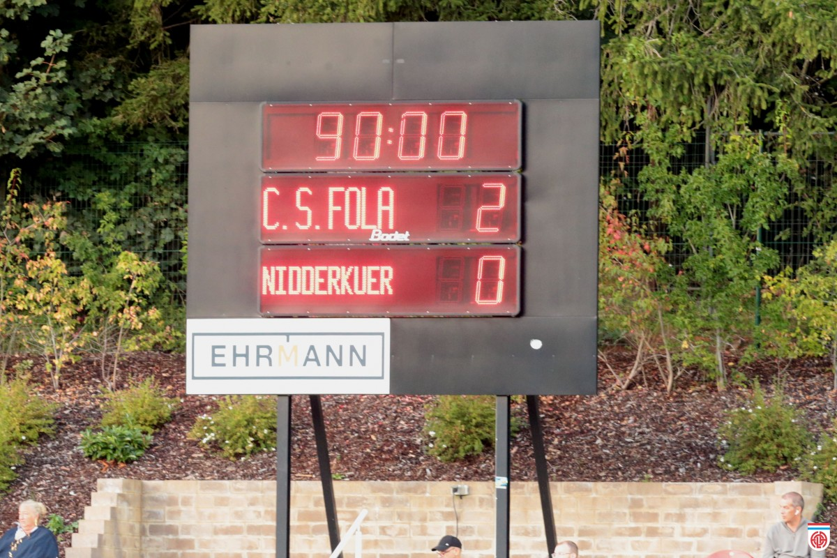 CS FOLA - Progrès Niederkorn 11/09/2021 2-0