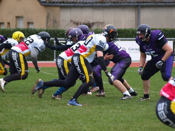 Reims WILDCATS vs. Luxembourg STEELERS of Dudelange (02.04.2017)