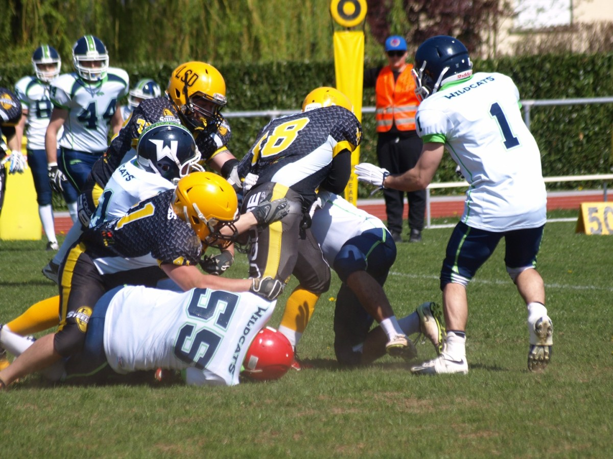 Luxembourg STEELERS of Dudelange v/s WILDCATS de Reims