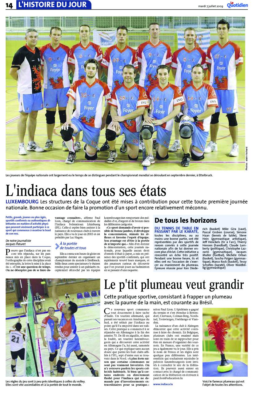 Quotidien 07.07.2009