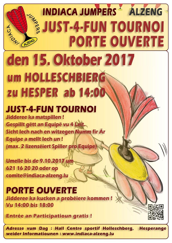 Just-4-Fun Tournoi & Porte ouverte 15.10.2017