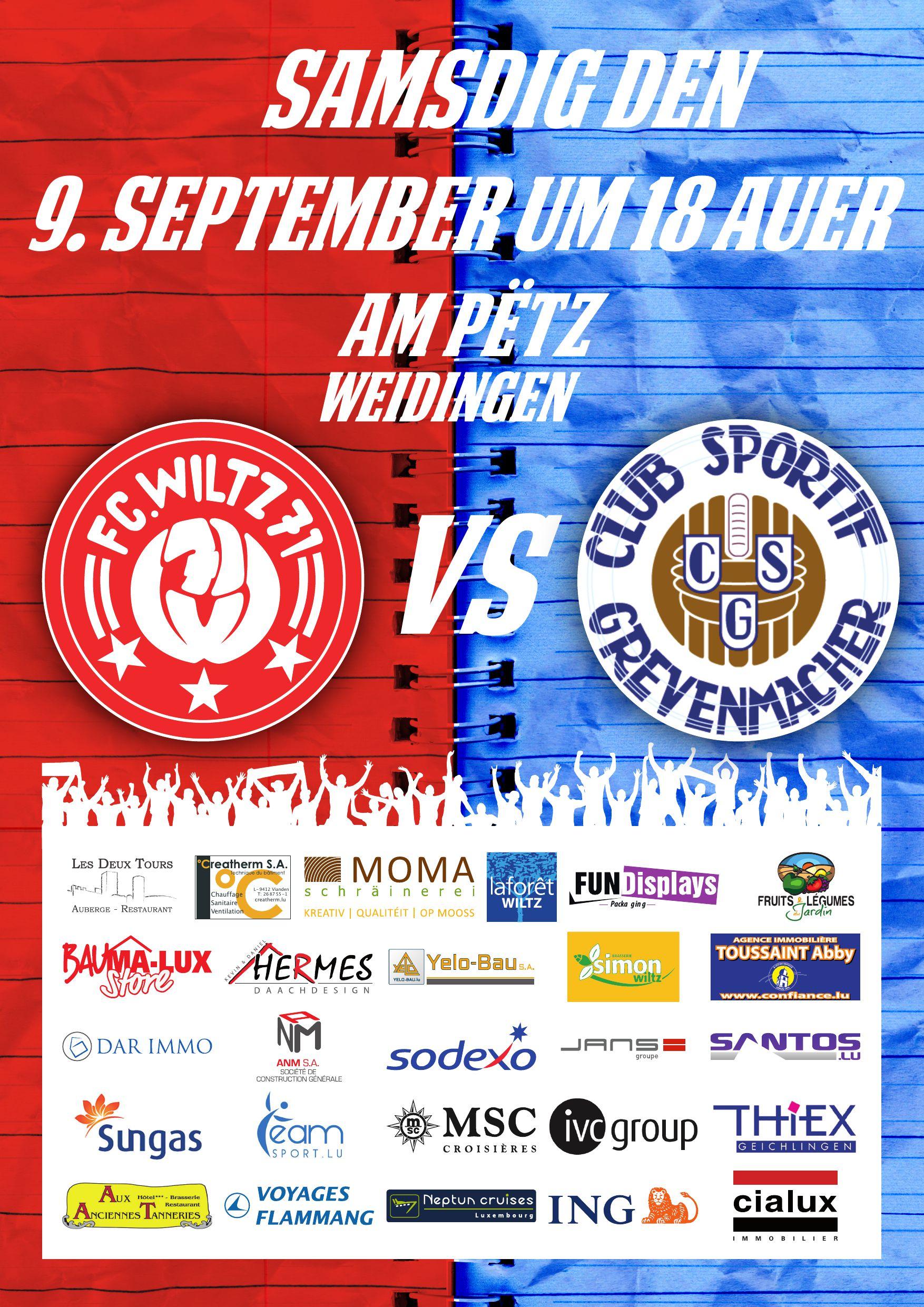 FC Wooltz 71 - CS Gréiwemaacher