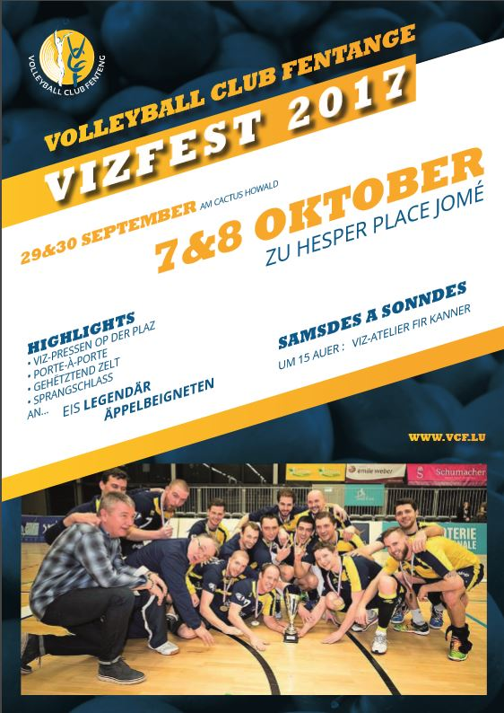 Vizfest 2017 den 29&30 Sept. am Cactus an den 7&8 Oct. Zu Hesper