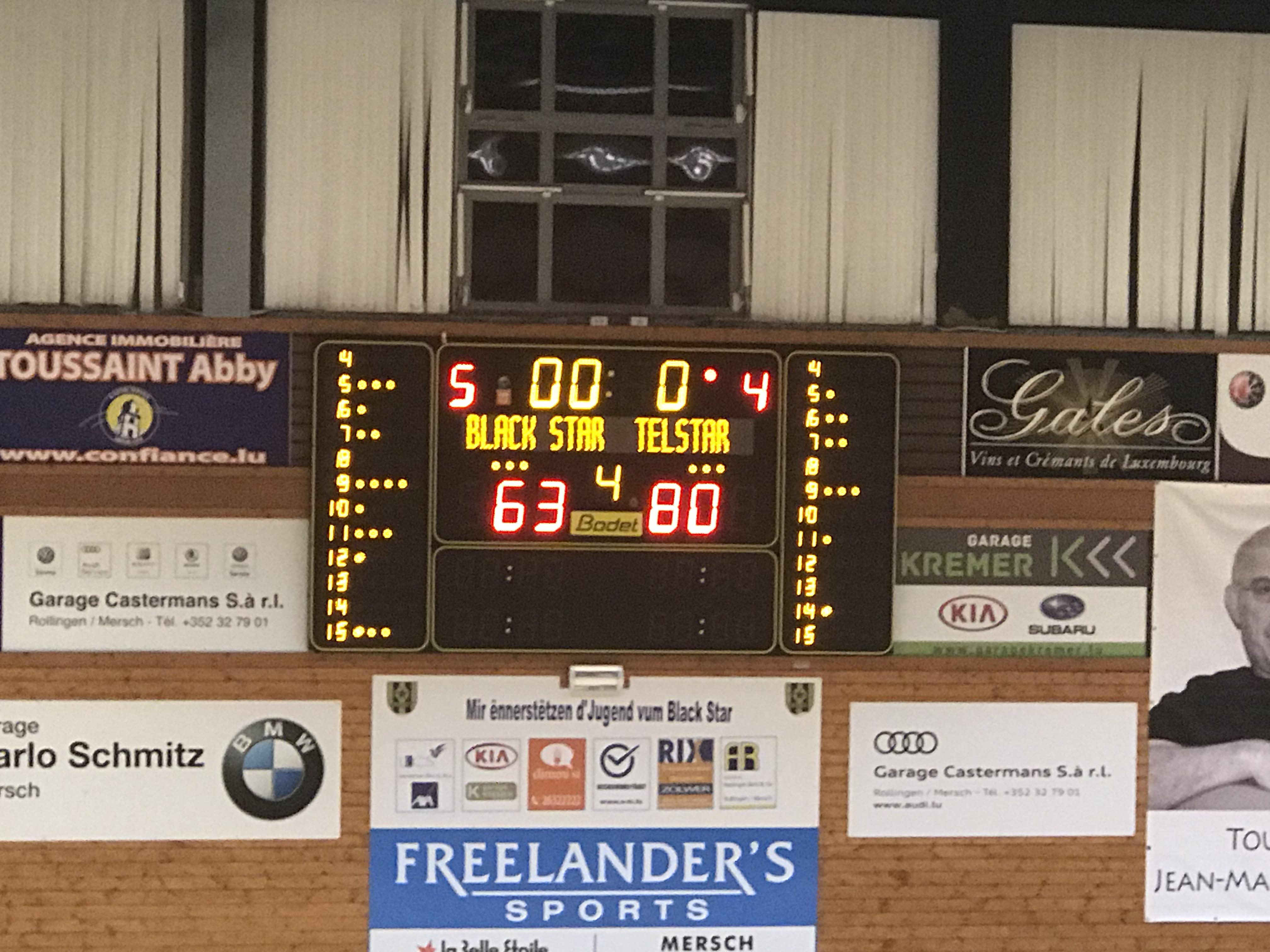Hären: 63:80 Victoire zu Miersch!