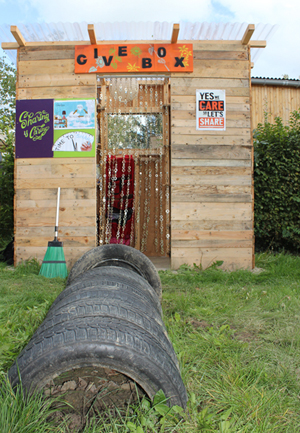 La GIVEBOX au jardin communautaire Jacquinotsgaart