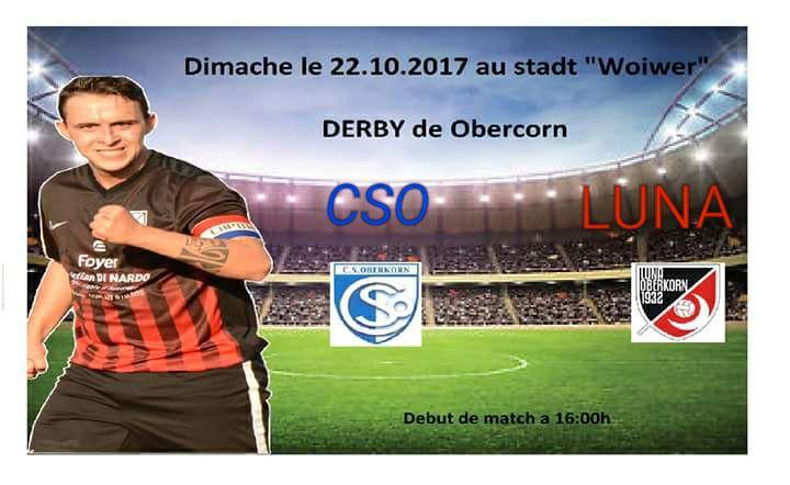 DERBY 22.10.2017 à 16h00 Terrain Synthétique Woiwer