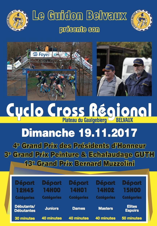 Cyclo Cross, LG BELVAUX dimanche le 19 novembre 2017