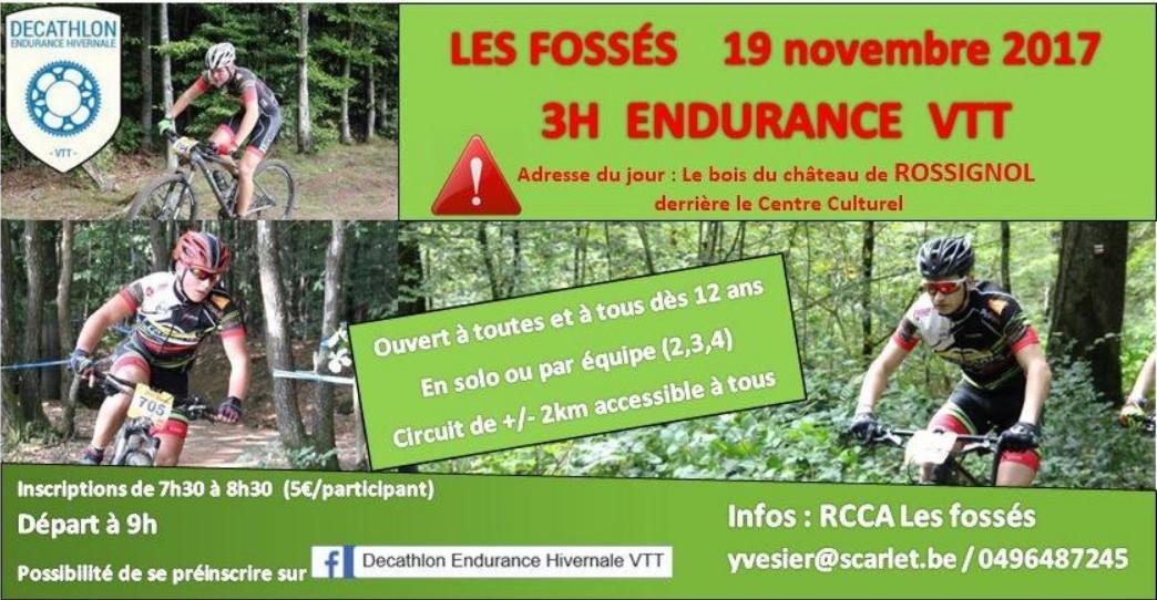 Les Fossés Endurance VTT  Dimanche 19 novembre 2017 Vtt