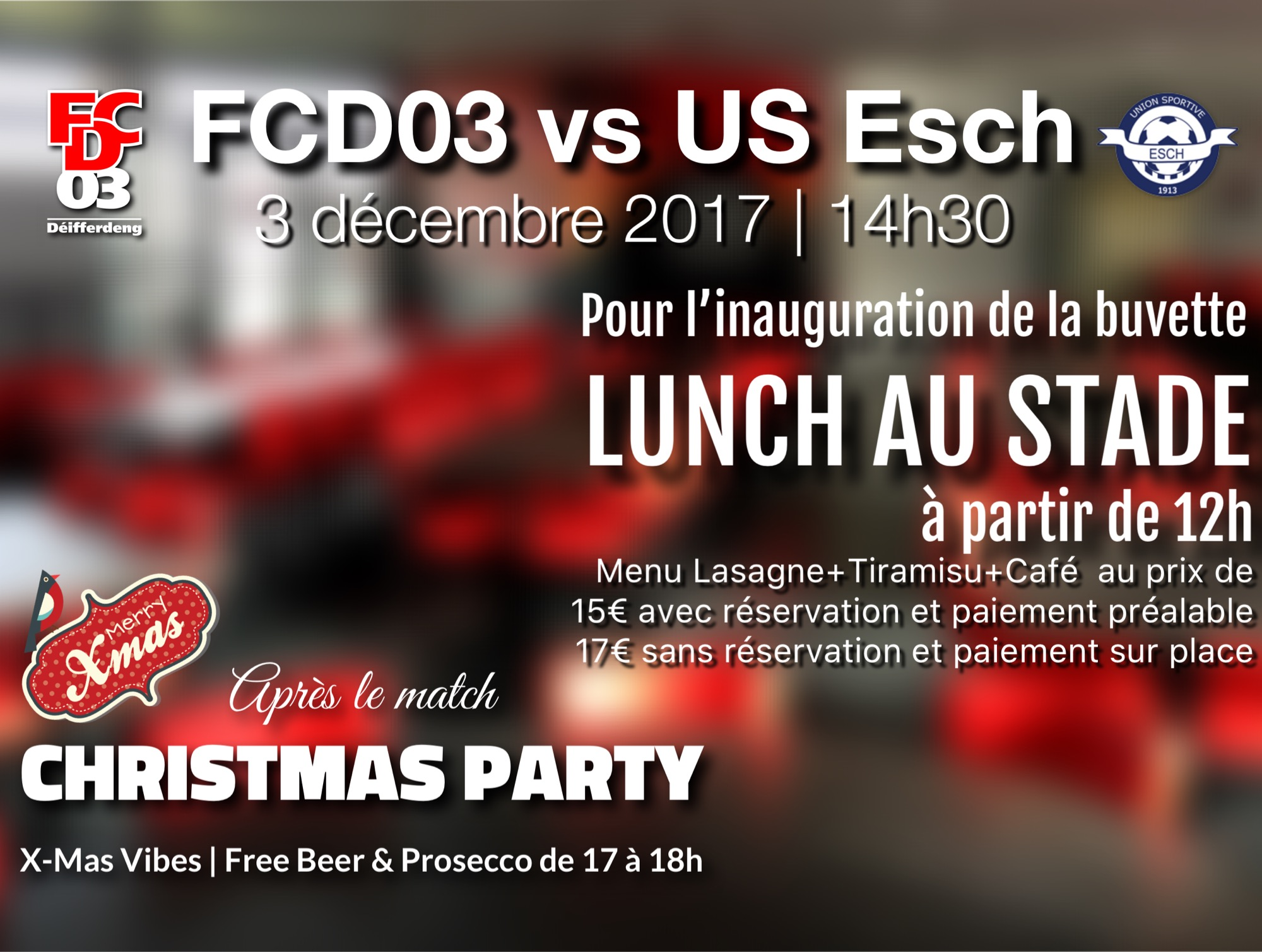 FCD03 - US Esch | Inauguration Buvette | Christmas Party