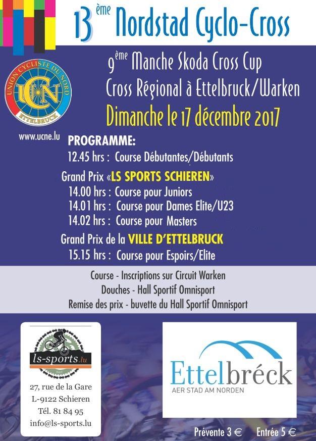 13e Nordstad Cyclocross - Skoda Cross Cup, UCN Ettelbruck